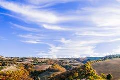 Vista de las colinas del Cesane Imagen de archivo libre de regalías