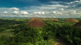 Vista de las colinas en Bohol, Filipinas del chocolate 4K TimeLapse - agosto de 2016, Bohol, Panglao, Filipinas almacen de video