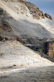 Vista de las dolomías protegidas por la UNESCO fotos de archivo