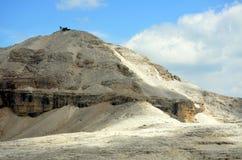 Vista de las dolomías protegidas por la UNESCO imagen de archivo libre de regalías