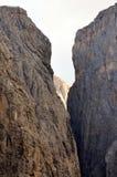 Vista de las dolomías protegidas por la UNESCO fotografía de archivo