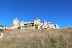 Vista de las esfinges de piedra fotografía de archivo