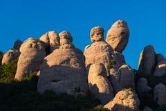 Vista de las formaciones de roca del EL Dit, La Patata y EL Lloro adentro Fotografía de archivo