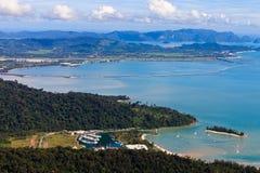 Vista de las islas de Lankawi Fotos de archivo