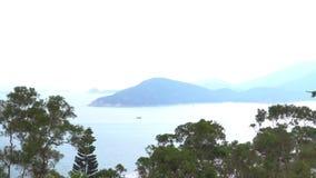Vista de las islas de Hong Kong South almacen de video