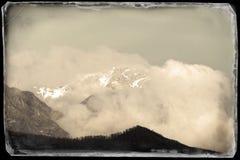Vista de las montañas apuan Imagen de archivo