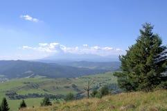 Vista de las montañas de Tatra Fotografía de archivo libre de regalías