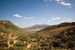 Vista de las montañas en Cerdeña fotografía de archivo libre de regalías