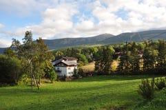 Vista de las montañas gigantes/Karkonosze fotos de archivo