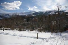 Vista de las montañas gigantes/Karkonosze, invierno imagen de archivo libre de regalías