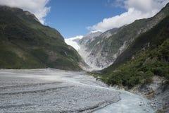 Vista de las montañas Nevado de Nueva Zelanda foto de archivo libre de regalías