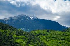 Vista de las montañas Olympus, Pieria, Macedonia, Grecia imagen de archivo libre de regalías