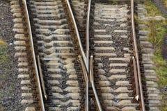 Vista de las pistas del ferrocarril desde arriba imágenes de archivo libres de regalías