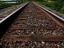 Vista de las pistas del tren Fotos de archivo