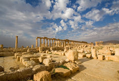 Vista de las ruinas del Palmyra Imágenes de archivo libres de regalías