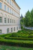 Vista de las torres del puente, Praga Imagen de archivo libre de regalías