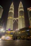 Vista de las torres gemelas de Petronas Imagen de archivo