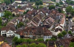 Vista de Lenzburg, Suiza Fotos de archivo