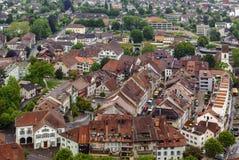 Vista de Lenzburg, Suiza Foto de archivo libre de regalías