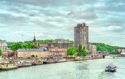 Vista de Lieja, una ciudad en los bancos del río Mosa en Bélgica Imágenes de archivo libres de regalías