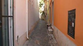 Vista de Lisboa céntrica almacen de metraje de vídeo