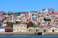 Vista de Lisboa del río Tagus Foto de archivo libre de regalías