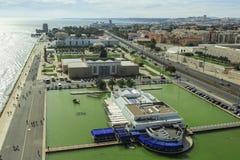 Vista de Lisboa, Portugal Imagen de archivo