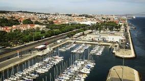 Vista de Lisboa, Portugal Foto de archivo