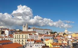 Vista de Lisboa y del monasterio del sao Vicente de Fora, Portugal Fotografía de archivo libre de regalías