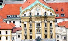 Vista de Ljubljana, Eslovênia imagens de stock royalty free