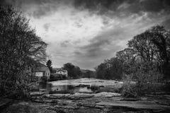 Vista de Llangollen do rio Imagens de Stock Royalty Free