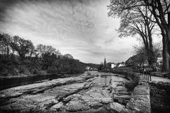 Vista de Llangollen do rio Imagem de Stock