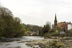 Vista de Llangollen do rio Imagens de Stock