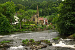Vista de Llangollen, Reino Unido Fotografía de archivo libre de regalías