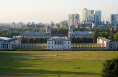 Vista de Londres de Greenwich Fotos de archivo libres de regalías