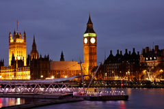 Vista de Londres na noite Foto de Stock Royalty Free