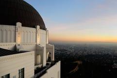 Vista de Los Ángeles CA fotografía de archivo