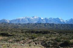 Vista de los Andes Imagen de archivo