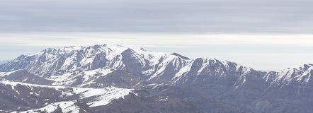 Vista de los Andes Foto de archivo