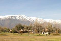 Vista de los Andes fotos de archivo