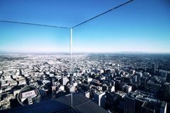 Vista de Los Angeles da elevação ascendente fotografia de stock