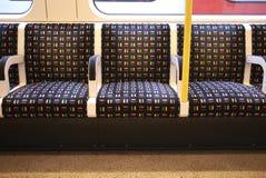 Vista de los asientos subterráneos fotos de archivo libres de regalías