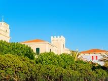 Vista de los edificios en Alghero cerdeña Fotografía de archivo libre de regalías