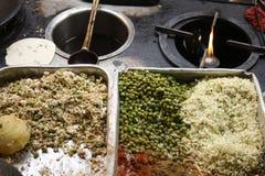 Vista de los ingredientes alimentarios de la calle. Fotografía de archivo libre de regalías
