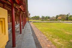 Vista de los jardines de Pavillion en la ciudad imperial de la tonalidad Imagenes de archivo
