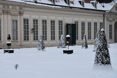 Vista de los jardines del belvedere foto de archivo libre de regalías