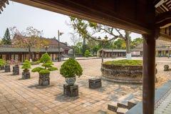 Vista de los jardines en la ciudad imperial de la tonalidad Fotos de archivo libres de regalías