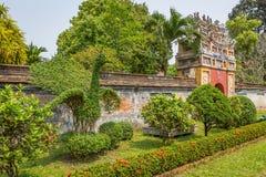 Vista de los jardines y del Pavillion en la ciudad imperial de la tonalidad Foto de archivo libre de regalías