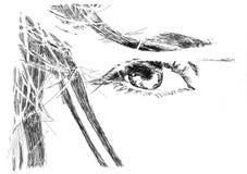 Vista de los ojos ilustración del vector