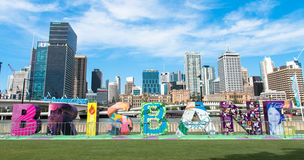 Vista de los skycrapers de la ciudad de Brisbane Imagen de archivo libre de regalías